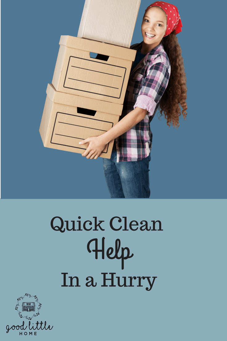 The Quick Clean Plan, Help in a Hurry