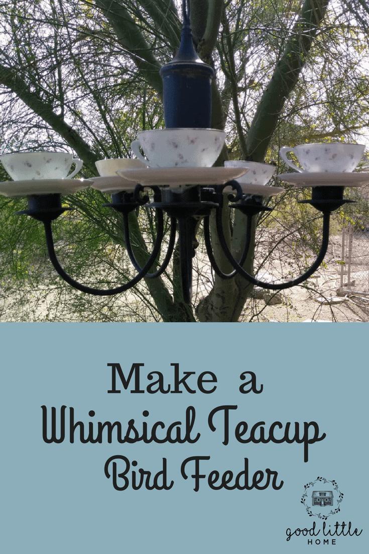 Whimsical Teacup Bird Feeder