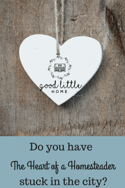 heart with a question . Do you have the heart of a Homesteader stuck in the city.