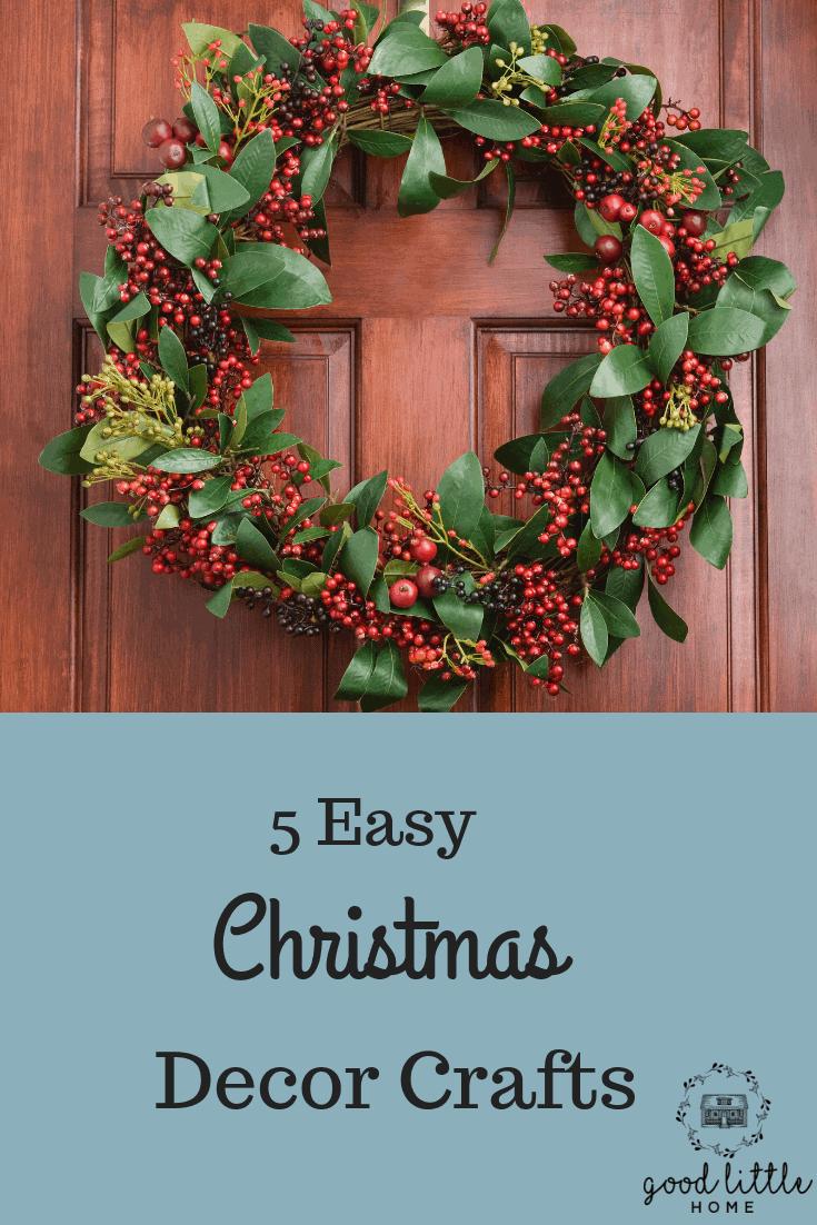 Easy Christmas Decor Crafts