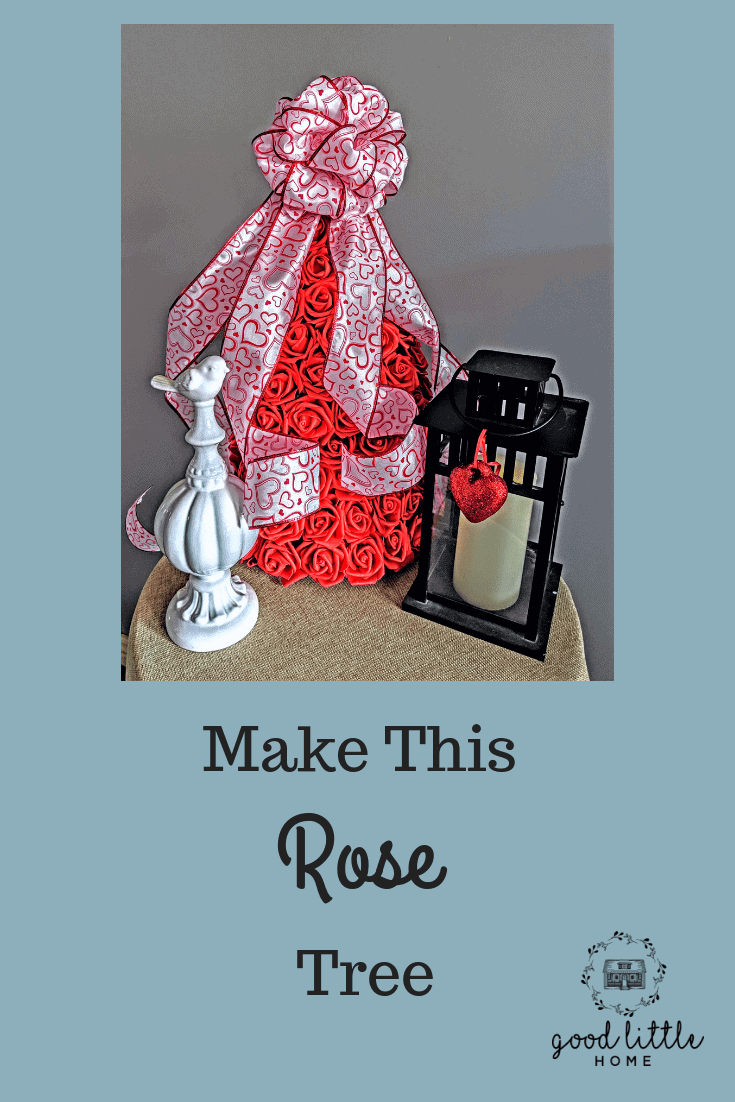 Valentine Rose Tree Craft