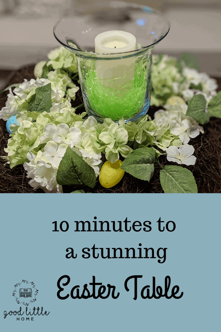 Beautiful 10 Minute Easter Table Decor