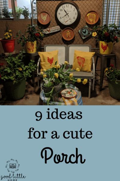 9 ideas for a cute porch FI