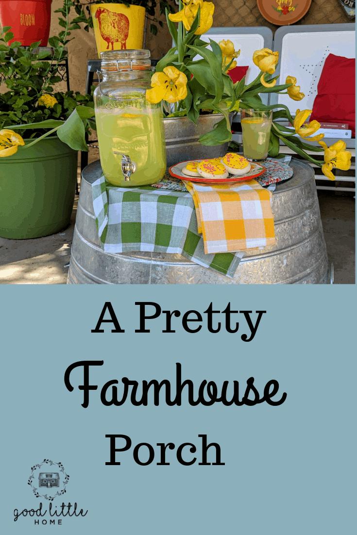 A Pretty Farmhouse Porch