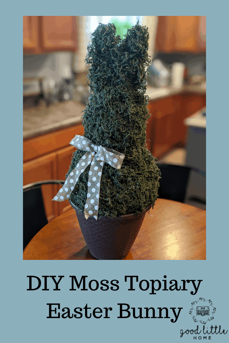 DIY Moss Topiary Easter Bunny