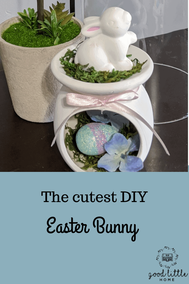 How to Make The Cutest  Wax Warmer Bunny for your Easter Mantel