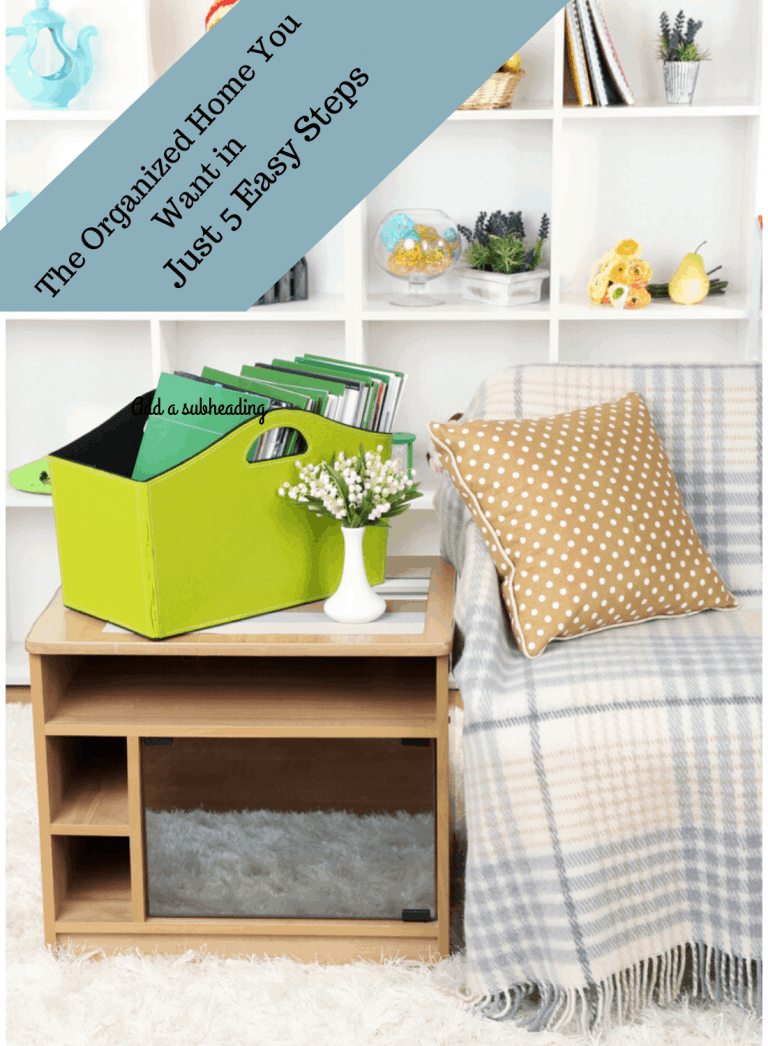 The Organized Home You Want in Just 5 Easy Steps