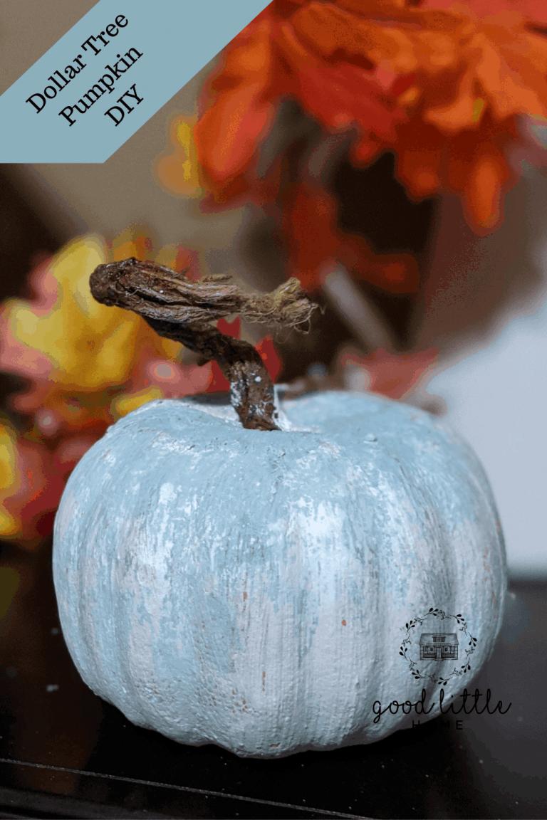 Dollar Tree Pumpkin to Old Barn Pumpkin DIY